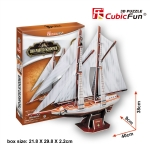 Two-masted Schooner Size40*9*38 cm. Total 81 pcs.