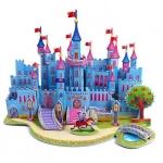 Blue fortress โมเดล 3 มิติ ปราสาทสีฟ้า Puzzle Model 3D Shop
