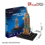 Empire State Building (U.S.A) Size 24.8*20.4*41 cm Total 38 Pieces.