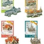 ชุดโมเดลวัดไทย 3มิติ จิ๊กซอว์วัดไทย อะเมสซิ่งไทยแลนด์ 4แบบ Amazing Thailand 3D Puzzle Collection