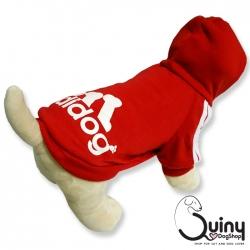เสื้อสุนัข Adidog สีแดง (Size : S-7XL)