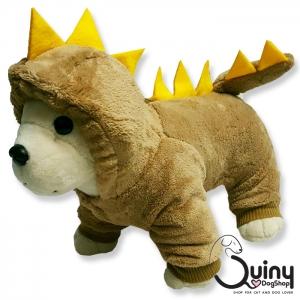 ชุดสุนัข กางกาง ก็อตซิล่า สีน้ำตาล