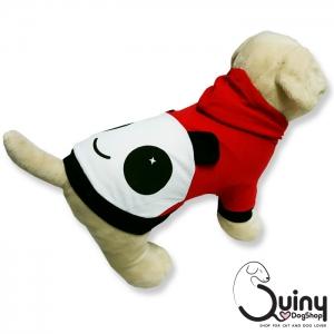 เสื้อสุนัข แพนด้า สีแดง