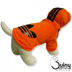 เสื้อสุนัข logo Adidog สีส้ม