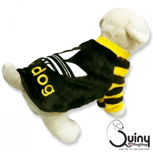 เสื้อสุนัข ลายแถบ adidog สีน้ำตาลเหลือง