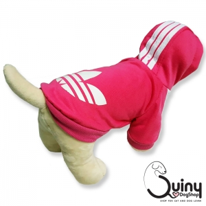 เสื้อสุนัข logo Adidog สีชมพู