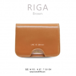 กระเป๋าใส่บัตร กระเป๋าสตางค์ เอนกประสงค์ รุ่น RIGA สีน้ำตาล