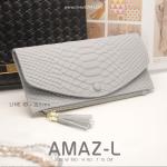 กระเป๋าสตางค์ผู้หญิง AMAZ-L สีเทา
