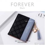 กระเป๋าสตางค์ผู้หญิง รุ่น FOREVER สีดำ