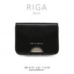 กระเป๋าใส่บัตร กระเป๋าสตางค์ เอนกประสงค์ รุ่น RIGA สีดำ