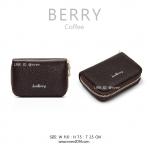 กระเป๋าใส่บัตร เอนกประสงค์ รุ่น BERRY สีกาแฟ น้ำตาลเข้ม