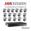 HIKVISION ( Set 16 ) DS-2CE56D0T-IRF x16 + DS-7216HQHI-F1/N