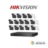 Hikvision (( Camera Set 16 )) ( DS-2CE16D7T-IT3x 16, DS-7216HUHI-F2/Nx 1)
