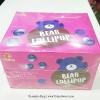พร้อมส่ง ** Bear Lollipop [Blueberry] + Strawberry Dip อมยิ้มรูปหมีรสบลูเบอร์รี่ มาพร้อมกับดิปรสสตรอเบอร์รี่ (แพ็ค 24 ชิ้น)