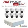HIKVISION ((Camera Pack 8 )) DS-2CE56D8T-IT3E X8 + DS-7108HQHI-K1