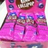 พร้อมส่ง ** Bear Lollipop [Blueberry] + Strawberry Dip อมยิ้มรูปหมีรสบลูเบอร์รี่ มาพร้อมกับดิปรสสตรอเบอร์รี่ (1 ชิ้น)