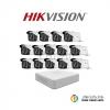 Hikvision (ชุดสุดโปรโมชั่นกล้อง 16 ตัว) (DS-2CE16D0T-IT3x 16, DS-2CE56D0T-IT3x 1)