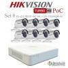 HIKVISION ((Camera Pack 8 )) DS-2CE16D0T-IRE X8 + DS-7108HQHI-K1