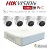 HIKVISION ((Camera Pack 4 )) DS-2CE56D8T-IT3E X4 + DS-7104HQHI-K1