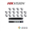 Hikvision (ชุดสุดโปรโมชั่นกล้อง 16 ตัว) (DS-2CD2322WD-I x 16,DS-7616NI-E2/16P x 1)