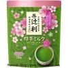Tsujiri Matcha Milk SAKURA ชาเขียวนมรสนุ่มผสมน้ำตาล หอมกลิ่นดอกซากุระ ชงร้อนหรือเย็นก็ได้ หอม หวาน สดชื่น บรรจุ 180 กรัม