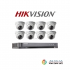 Hikvision (( Camera Set 8 )) (DS-2CE56D0T-IR x 8, DS-7208HQHI-K1x 1)
