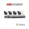 Hikvision (( Camera Set 4 )) (DS-2CE16D0T-IT3x 4, DS-7204HQHI-K1x 1)