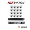 HIKVISION (ชุดสุดโปรโมชั่นกล้อง 16 ตัว) (DS-2CD2110F-I x 16, DS-7616NI-E2 /16P x 1)