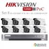 HIKVISION ((Camera Pack 8 )) DS-2CE16D8T-IT3E X8+ DS-7204HQHI-K2/8P