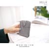กระเป๋าเก็บบัตร รุ่น MILK สีเทา