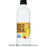 Suntory PREMIUM MORNING [Lemon] TEA น้ำแร่ชามะนาว น้ำเปล่ารสชามะนาว รสชาติและกลิ่นเหมือนชามะนาวจนน่าตกใจ แต่เป็นน้ำแร่ใสๆ ดื่มแล้วสดชื่นมากๆ อร่อยแคลอรี่เบาๆ ขนาด 550ml