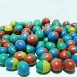 ลูกไข่ พลาสติกคละสี แบบโบราณ ขนาดเล็กเท่าไข่นกกระทา ขนาด4.3*3.3 ซ.ม.