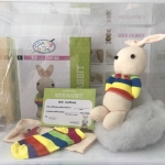 Crafts and Cute Sew and Stuffing Sock Rabbit Size 22*7*8 cm.