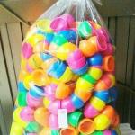 ลูกไข่พลาสติกสีสวย ขนาดเล็ก คละสี Egg Plastic Toy ขนาด4.3*3.3 ซ.ม. แพคละ 50ลูก