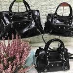 กระเป๋าหนังแท้ Balen Black size24Cm