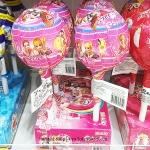 พร้อมส่ง ** Super Pop Secret Jouju อมยิ้มรสผลไม้ มาในแพ็คเกจรูปตุ๊กตาสีชมพู อันใหญ่มาก บรรจุ 80 กรัม 1 ชิ้น