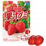 Meiji Gummy Strawberry กัมมี่สตรอเบอร์รี่ ตัวกัมมี่เป็นรูปผลไม้ น่ารักมากๆ สกัดจากน้ำผลไม้แท้ 100% ทานง่าย หอมอร่อย บรรจุ 51 กรัม