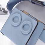 กระเป๋าคาดเอวหนัง PU Premium รุ่น Deon belt Blue