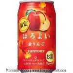 Suntory Horoyoi Chu-Hi [Red Apple] ชูไฮรสแอปเปิ้ล เครื่องดื่มสดชื่น ผสมแอลกอฮอลล์อ่อนๆ 3% แต่ออกรสหวานและมีกลิ่นหอมของผลไม้ ดื่มง่าย กรึ่มๆ ไม่มึนและไม่เมา บรรจุ 350ml