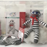 Crafts and Cute Sew and Stuffing Sock Monkey Size 18*7*8 cm.