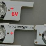 หลอดแอลอดี 6V พร้อมเลนส์