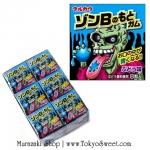 Zombie Gum หมากฝรั่งเปลี่ยนสีลิ้นเป็นสีฟ้า ลายซอมบี้ รสองุ่น แพ็ค 18 กล่อง