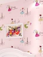 wallpaper ติดผนัง ลายเจ้าหญิง สีชมพู