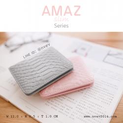 กระเป๋าสตางค์ผู้หญิง แบบบาง รุ่น AMAZ Slim สีเทา