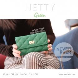 กระเป๋าสตางค์ผู้หญิง NETTY-Green สีเขียว