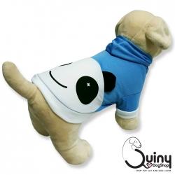 เสื้อสุนัข แพนด้า สีฟ้า