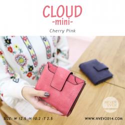 กระเป๋าสตางค์ผู้หญิง CLOUD-MINI สีชมพูเชอร์รี่