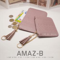 กระเป๋าสตางค์ผู้หญิง ทรงถุง รุ่น AMAZ-BL สีชมพู