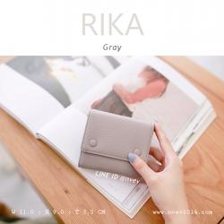 กระเป๋าสตางค์ผู้หญิง รุ่น RIKA สีเทา gray