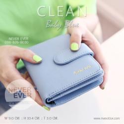 กระเป๋าสตางค์ผู้หญิง CLEAN สีฟ้า